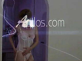 Anilos Poppy pounds her love tunnel with a vibrator