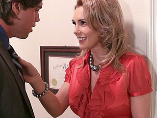 British hottie Tanya Tate likes to talk indecent and moan in that sexy accent of hers.  Her stunt jock had a good time licking the nipples on her big breasts and then getting his dick enveloped by her velvety-soft little love canal, which squeezed him constricted with each thrust and got him to pump out one of his biggest loads.