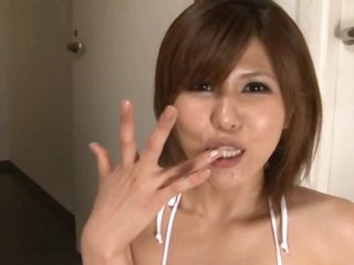 Double Blowjob For This Hot Asian Babe
