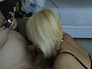 Ukrainian Blonde MILF Sucks on Cam