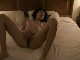 Hairy Asian gf worships wang