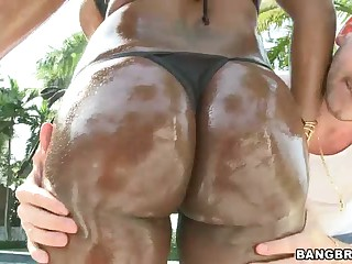 Wet black porn diva Jada Fire with big tits and ass