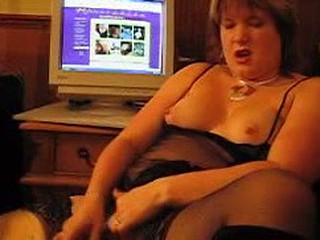 Chubby wonderful lady was surfing the Internet and got to a porn-site and that made her extremely horny.