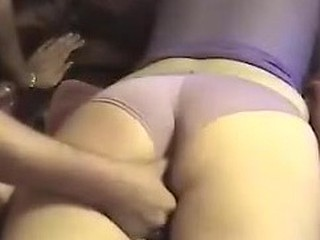 Sliding dildo nearly my wife's pussy vid