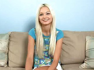 Blonde & miniature Franziska Facella strips away her clothes