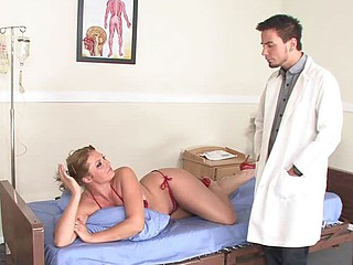 Ava Rose getting horny for the doctor