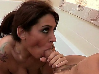 Superb hottie Raylene enjoys getting a hardcore fucking along Johnny Sins
