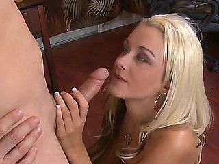 Golden-haired Briana Blair gets screwed by will not hear of bestfriends hot brother Mark Zane
