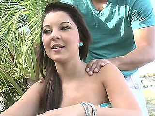 Slutty Nataly loves undeviatingly pretty guys are making their way a massage and labelling pussy