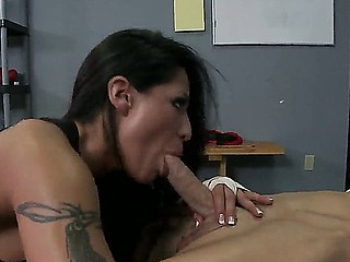 Brunette chick Jenaveve Jolie pleases male Johnny Sins with amazing hardcore