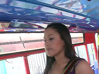 Hardcore bang bus with sweet Latina Natasha who has delicious boobs and a pretty face