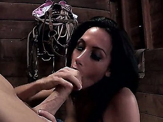 Johnny Sins deep penetrates hawt dark cloudy Randi Wright in amazing porn scene