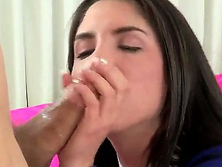 Pretty school girl Giselle Leon is sure that that babe will receive her brothers friends penis