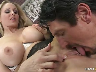 Breasty Julia Ann and her fussy teaching overtures