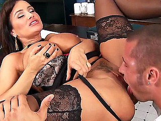 Remarkable doxy Lisa Ann fucks simply