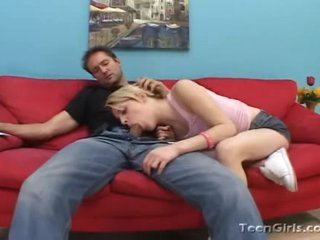 Ally Ann shows she's not so innocent by devouring a hard boner
