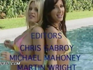 Carnal Lauren Hays Dancing In Swimsuit With Some other Scorching Babe