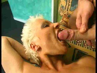 Short hair girl is a total slut for big cock
