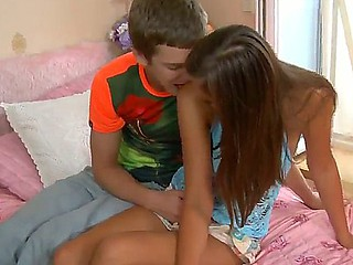 Horny boyfriend seduces sweet Katrina and