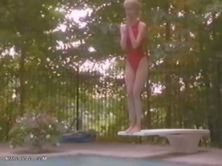 Laura Dern Rinse In a Hot Swimsuit - 'Down Came A Blackbird' Scene