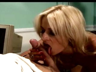 Flexible hot blonde with big tits rides bone