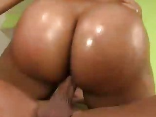 Carmen Michaels has her oily butt banged back cock