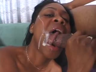 Hard Negroid fucking with squirter together with a facial