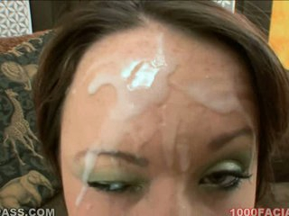 Izzy Ryder gets a monster load discharged across face