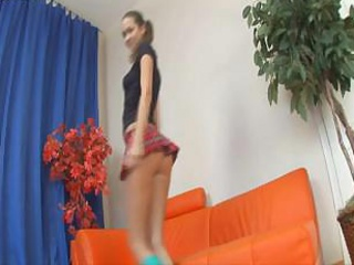 Schoolgirl Kristina Has A To one's liking Seniority With The brush Pal with