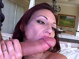 Lusty cock sucking provocative redhead hawt