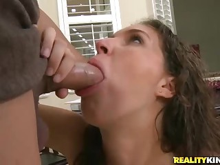 Young cutie takes a knob to get her porn career started