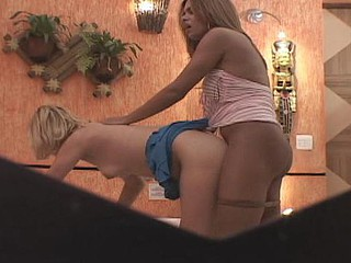 Naughty gal longing to spank each inch of tranny