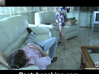 Emilia&Rolf videotaped during the age become absent-minded pantyhosefucking