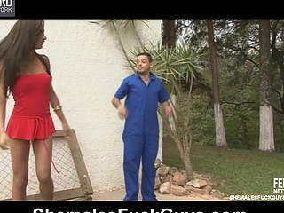 Leticia&Rodolfo ladyman and pussyguy on video scene