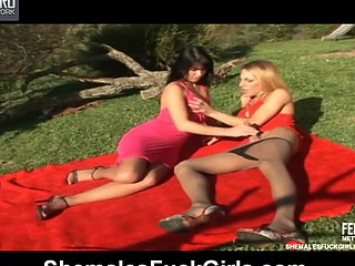 Milena&Dani ladyboy copulates lady movie