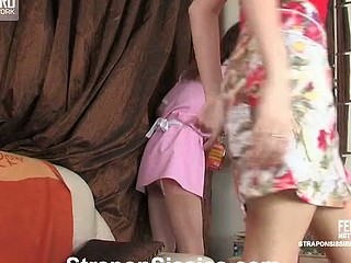 Sissy back a maid unvarying willing for backdoor work with a strap-on armed give a thought to