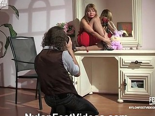 Alice&Mike nasty nylon feet movie