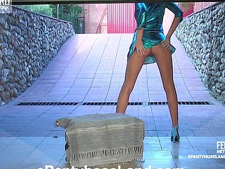 Helga in great pantyhose movie