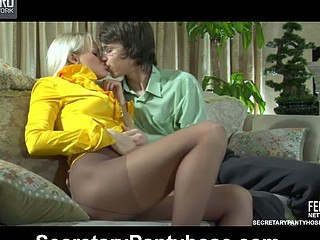 Dolly&Harry office pantyhose movie
