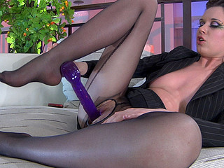 Louisa B showing her nylon feet