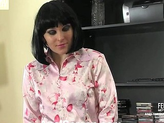 Salacious secretary talked into hard backdoor fucking right in the office
