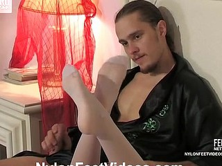 Alice&Mike kinky nylon footsex