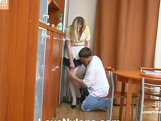 Susanna&Elliot videotaped during the age lose concentration having nylonsex
