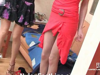 Susie&Marion nylon footsex movie