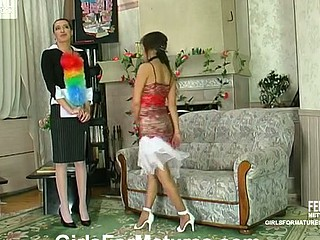 Helena&Madeleine pussyloving older upstairs episode
