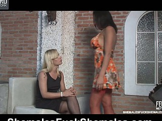 Lorena&Thais irresistible sheboys on movie scene