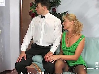 Bridget&Clifford red sexy older clip scene