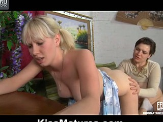 Elsa&Natali pussylicking older on membrane scene