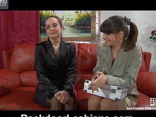 First lesbo women having various sex toys for in the final undertaking on high the sofa