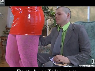 Lottie&Steve nasty pantyhose movie